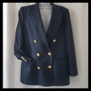 Talbots 10 Wool Blazer Dark Blue